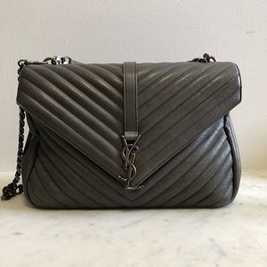c9b6e72c3e20 YSL College Large In Matelasse Leather